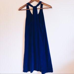 Cynthia Rowley Indigo/Navy Silk Sleeveless Dress